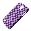 HOUNDSTOOTH2 WHITE MARBLE & PURPLE DENIM Galaxy S4 Active View4
