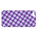 HOUNDSTOOTH2 WHITE MARBLE & PURPLE DENIM iPhone 5S/ SE Premium Hardshell Case View1
