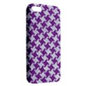 HOUNDSTOOTH2 WHITE MARBLE & PURPLE DENIM iPhone 5S/ SE Premium Hardshell Case View2