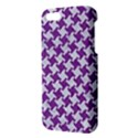 HOUNDSTOOTH2 WHITE MARBLE & PURPLE DENIM iPhone 5S/ SE Premium Hardshell Case View3
