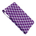 HOUNDSTOOTH2 WHITE MARBLE & PURPLE DENIM iPad Air Hardshell Cases View5