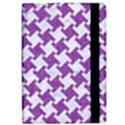 HOUNDSTOOTH2 WHITE MARBLE & PURPLE DENIM iPad Air Flip View2