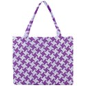 HOUNDSTOOTH2 WHITE MARBLE & PURPLE DENIM Mini Tote Bag View1