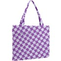 HOUNDSTOOTH2 WHITE MARBLE & PURPLE DENIM Mini Tote Bag View2