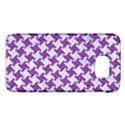 HOUNDSTOOTH2 WHITE MARBLE & PURPLE DENIM Galaxy S6 View1