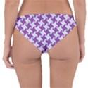 HOUNDSTOOTH2 WHITE MARBLE & PURPLE DENIM Reversible Hipster Bikini Bottoms View2