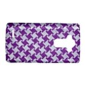 HOUNDSTOOTH2 WHITE MARBLE & PURPLE DENIM LG G4 Hardshell Case View1