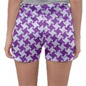 HOUNDSTOOTH2 WHITE MARBLE & PURPLE DENIM Sleepwear Shorts View2