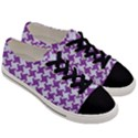 HOUNDSTOOTH2 WHITE MARBLE & PURPLE DENIM Men s Low Top Canvas Sneakers View3