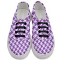 HOUNDSTOOTH2 WHITE MARBLE & PURPLE DENIM Women s Classic Low Top Sneakers View1