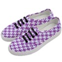 HOUNDSTOOTH2 WHITE MARBLE & PURPLE DENIM Women s Classic Low Top Sneakers View2
