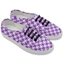 HOUNDSTOOTH2 WHITE MARBLE & PURPLE DENIM Women s Classic Low Top Sneakers View3