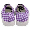 HOUNDSTOOTH2 WHITE MARBLE & PURPLE DENIM Women s Classic Low Top Sneakers View4