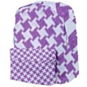 HOUNDSTOOTH2 WHITE MARBLE & PURPLE DENIM Giant Full Print Backpack View4