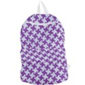 HOUNDSTOOTH2 WHITE MARBLE & PURPLE DENIM Foldable Lightweight Backpack View1
