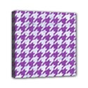 HOUNDSTOOTH1 WHITE MARBLE & PURPLE DENIM Canvas Travel Bag View1