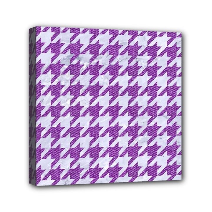 HOUNDSTOOTH1 WHITE MARBLE & PURPLE DENIM Canvas Travel Bag