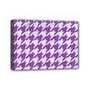 HOUNDSTOOTH1 WHITE MARBLE & PURPLE DENIM Mini Canvas 7  x 5  View1
