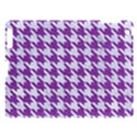 HOUNDSTOOTH1 WHITE MARBLE & PURPLE DENIM Apple iPad 3/4 Hardshell Case View1