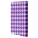 HOUNDSTOOTH1 WHITE MARBLE & PURPLE DENIM Apple iPad 3/4 Hardshell Case View3