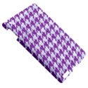 HOUNDSTOOTH1 WHITE MARBLE & PURPLE DENIM Apple iPad 3/4 Hardshell Case View5