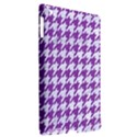 HOUNDSTOOTH1 WHITE MARBLE & PURPLE DENIM Apple iPad 3/4 Hardshell Case (Compatible with Smart Cover) View2