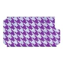 HOUNDSTOOTH1 WHITE MARBLE & PURPLE DENIM Apple iPhone 5 Hardshell Case (PC+Silicone) View1
