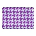 HOUNDSTOOTH1 WHITE MARBLE & PURPLE DENIM Apple iPad Mini Hardshell Case (Compatible with Smart Cover) View1