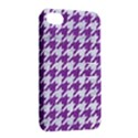 HOUNDSTOOTH1 WHITE MARBLE & PURPLE DENIM Apple iPhone 4/4S Hardshell Case with Stand View2