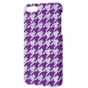 HOUNDSTOOTH1 WHITE MARBLE & PURPLE DENIM Apple iPhone 5 Hardshell Case with Stand View3
