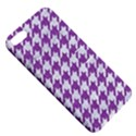 HOUNDSTOOTH1 WHITE MARBLE & PURPLE DENIM Apple iPhone 5 Hardshell Case with Stand View5