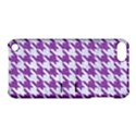 HOUNDSTOOTH1 WHITE MARBLE & PURPLE DENIM Apple iPod Touch 5 Hardshell Case with Stand View1