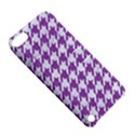 HOUNDSTOOTH1 WHITE MARBLE & PURPLE DENIM Apple iPod Touch 5 Hardshell Case with Stand View5