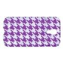 HOUNDSTOOTH1 WHITE MARBLE & PURPLE DENIM Samsung Galaxy S4 I9500/I9505 Hardshell Case View1
