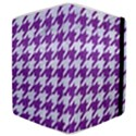 HOUNDSTOOTH1 WHITE MARBLE & PURPLE DENIM Samsung Galaxy Tab 8.9  P7300 Flip Case View4