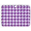 HOUNDSTOOTH1 WHITE MARBLE & PURPLE DENIM Samsung Galaxy Tab 3 (10.1 ) P5200 Hardshell Case  View1