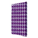 HOUNDSTOOTH1 WHITE MARBLE & PURPLE DENIM iPad Air Hardshell Cases View3