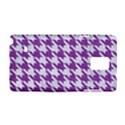 HOUNDSTOOTH1 WHITE MARBLE & PURPLE DENIM Samsung Galaxy Note 4 Hardshell Case View1