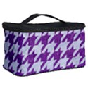 HOUNDSTOOTH1 WHITE MARBLE & PURPLE DENIM Cosmetic Storage Case View2