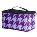 HOUNDSTOOTH1 WHITE MARBLE & PURPLE DENIM Cosmetic Storage Case View3