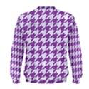 HOUNDSTOOTH1 WHITE MARBLE & PURPLE DENIM Men s Sweatshirt View2