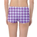 HOUNDSTOOTH1 WHITE MARBLE & PURPLE DENIM Boyleg Bikini Bottoms View2