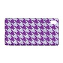 HOUNDSTOOTH1 WHITE MARBLE & PURPLE DENIM Sony Xperia Z3+ View1
