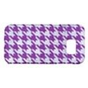 HOUNDSTOOTH1 WHITE MARBLE & PURPLE DENIM Samsung Galaxy S7 Edge Hardshell Case View1