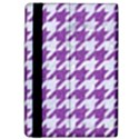 HOUNDSTOOTH1 WHITE MARBLE & PURPLE DENIM Apple iPad Pro 9.7   Flip Case View4