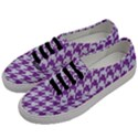 HOUNDSTOOTH1 WHITE MARBLE & PURPLE DENIM Men s Classic Low Top Sneakers View2
