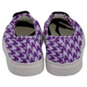 HOUNDSTOOTH1 WHITE MARBLE & PURPLE DENIM Men s Classic Low Top Sneakers View4