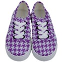 HOUNDSTOOTH1 WHITE MARBLE & PURPLE DENIM Kids  Classic Low Top Sneakers View1