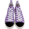 HOUNDSTOOTH1 WHITE MARBLE & PURPLE DENIM Men s Mid-Top Canvas Sneakers View1