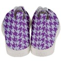 HOUNDSTOOTH1 WHITE MARBLE & PURPLE DENIM Men s Mid-Top Canvas Sneakers View4